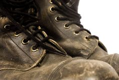 Trekking shoes. On isolated background stock photography