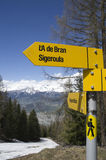 Trekking signboard Stock Photography