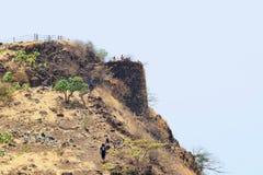 Trekking at Sinhagad fort, Pune , Maharashtra. India royalty free stock images