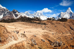 Trekking in Solu Khumbu Royalty Free Stock Image
