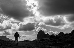 Trekking su Ausangate Fotografie Stock