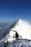 Trekking sulla cresta Fotografia Stock