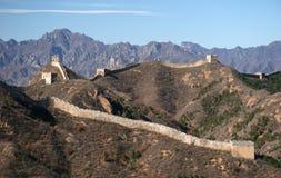 Trekking sur la Grande Muraille. Images libres de droits