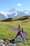 Trekking in the Alps Royalty Free Stock Images