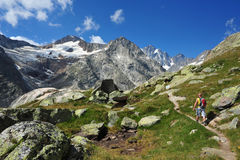Trekking in Switzerland Royalty Free Stock Photography