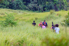 Trekking in Tailandia Immagine Stock