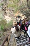 Trekking Three Sisters mountain Royalty Free Stock Photos