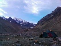 Trekking. Tkekking sleeping  view  beauty Stock Image