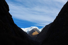Trekking to Annapurna Base Camp, Himalaya Mountains - Nepal Stock Photos