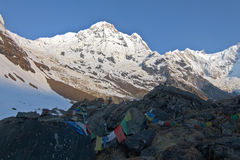 Trekking to Annapurna base camp Royalty Free Stock Photography