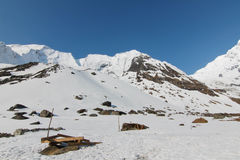 Trekking to Annapurna base camp Royalty Free Stock Image