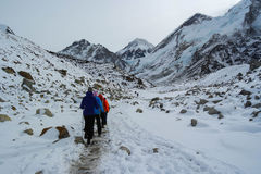 Trekking to Everest Base Camp Stock Photos