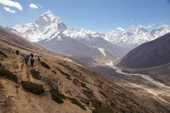 Trekking to Everest Royalty Free Stock Images