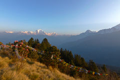 Trekking to Poon hill Royalty Free Stock Image