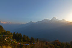 Trekking to Poon hill Stock Images
