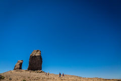 Trekking to Roque Nublo Royalty Free Stock Image