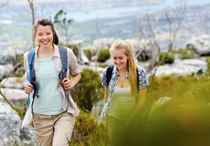 Trekking together Royalty Free Stock Photos