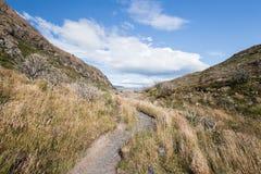 Trekking Torres del Paine Valley στη Χιλή Στοκ φωτογραφία με δικαίωμα ελεύθερης χρήσης