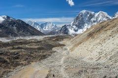 Trekking trail in Everest base camp trek Stock Image