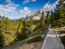 Trekking Trail in Rocky Mountains Royalty Free Stock Photography