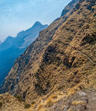 Trekking trails in Himalaya Stock Images