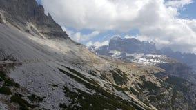 Trekking trasa w Tre Cime Di Lavaredo, dolomit, Włochy Zdjęcie Stock