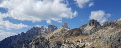 Trekking trasa w Tre Cime Di Lavaredo, dolomit, Włochy Zdjęcia Stock