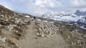 Trekking trasa w Tre Cime Di Lavaredo, dolomit, Włochy Zdjęcie Royalty Free