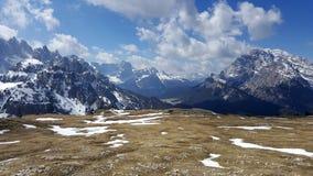 Trekking trasa w Tre Cime Di Lavaredo, dolomit, Włochy Fotografia Stock