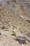 Trekking at Traxoulas canyon, Lendas, Crete Stock Photo