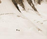Trekking und Erholung in den Alpenbergen Lizenzfreies Stockbild