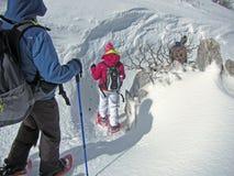trekking vinter Arkivfoto