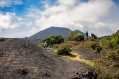 Trekking Volcano Pacaya in Guatemala Stock Photos