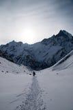 Trekking w Annapurna podstawowym obozie Zdjęcie Stock