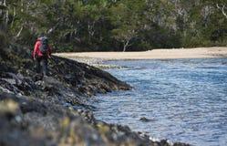 Trekking w chile fjords Zdjęcie Royalty Free