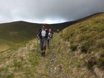 Trekking w górach Zdjęcia Stock