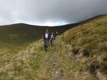 Trekking w górach Zdjęcia Royalty Free