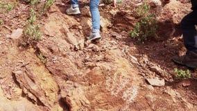 Trekking w górach Kamieni Spadać zbiory wideo