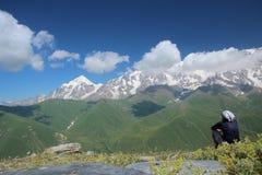 Trekking w Gruzja Zdjęcie Royalty Free