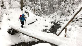 Trekking w zima czasie zbiory