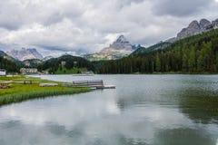 Trekking wokoło Trzy szczytów, Włoscy Alps Fotografia Royalty Free
