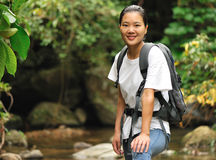 Trekking woman Royalty Free Stock Photos