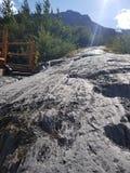 Trekking wyjście lodowiec obraz stock