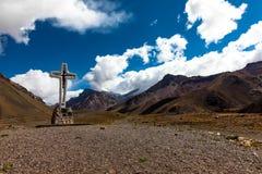 Trekking, zum von Aconcagua anzubringen Stockfotografie