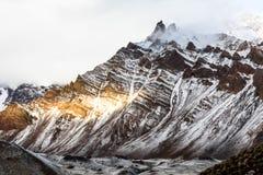 Trekking, zum von Aconcagua anzubringen Lizenzfreie Stockfotos