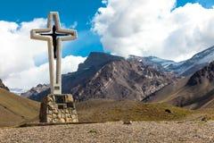 Trekking, zum von Aconcagua anzubringen Lizenzfreies Stockfoto