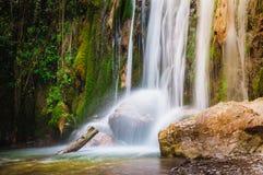 Trekkingsamalfi Kust, Waterval Royalty-vrije Stock Foto's