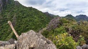 Trekkingsroute in pha-Ngern Stock Afbeeldingen