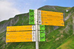 Trekkingsroutes Stock Foto's