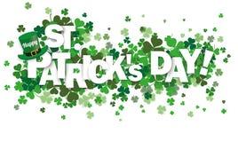 Treklöverer lyckliga St Patrick stock illustrationer